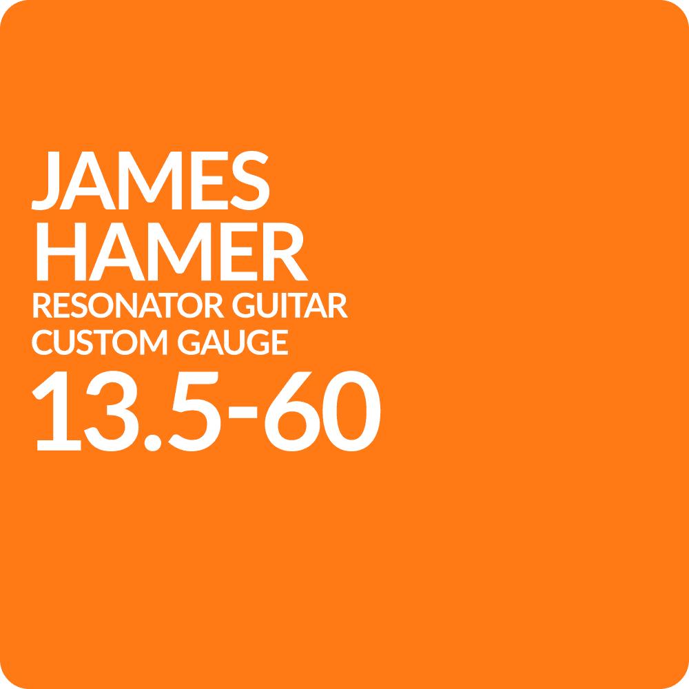 Custom Set James Hamer 135 60 Acoustic Resonator Guitar Gauge