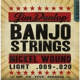 Jim Dunlop 5-String Banjo Nickel Strings 9-20 Light