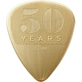 Jim Dunlop 50th Anniversary Nylon Guitar Pick Pack 12-Picks - .60mm Gauge Plectrums