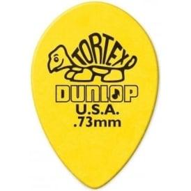 Jim Dunlop .73mm Small Teardrop Picks Yellow - 6-Pack