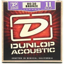 Jim Dunlop 80/20 Bronze Acoustic Guitar Strings 11-52 Medium/Light