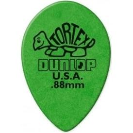 Jim Dunlop .88mm Small Teardrop Picks Green - 6-Pack