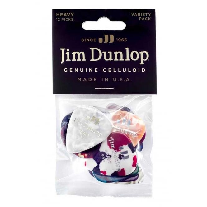 Jim Dunlop Celluloid Heavy Variety Plectrum 12-Pack