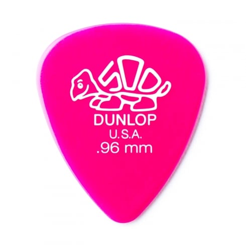 Jim Dunlop Delrin 500 Standard .96mm Guitar Pick Player Pack of 12