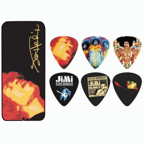 Jim Dunlop Electric Hendrix Ladyland Collector Tin 12-Pack Guitar Picks (Heavy)