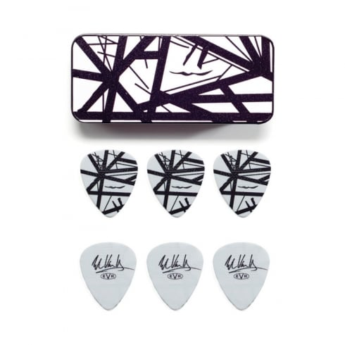 Jim Dunlop EVH Graphic Series Black & White Frankenstein Pick Tin Pack of 6 Plectrums