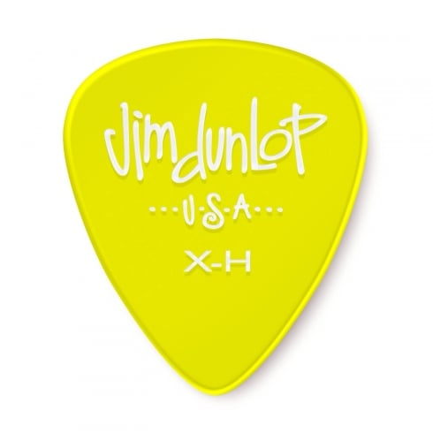 Jim Dunlop Gels Extra Heavy Gauge 12-Pick Player Pack (Yellow) 486PXH