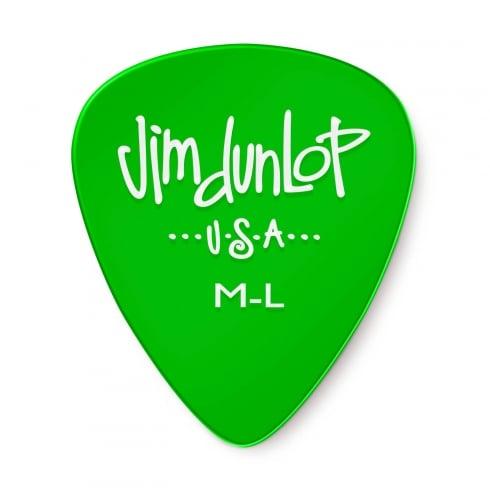 Jim Dunlop Gels Medium Light Gauge 12-Pick Player Pack (Green) 486PML