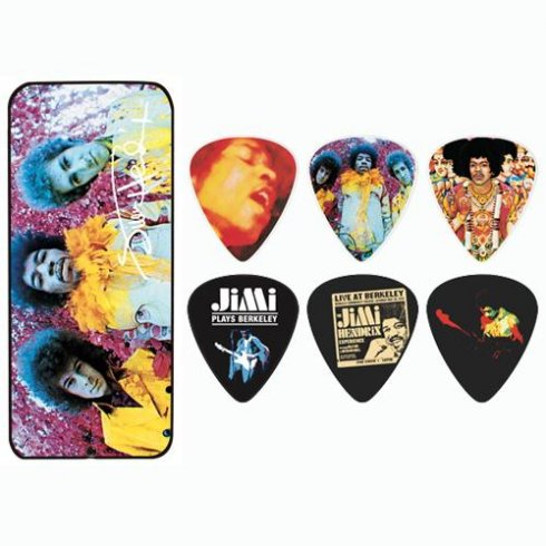Jim Dunlop Hendrix Are You Experienced Collector Tin 12-Pack Guitar Picks (Medium)