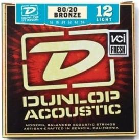 Jim Dunlop 80/20 Bronze Acoustic Guitar Strings 12-54 Light