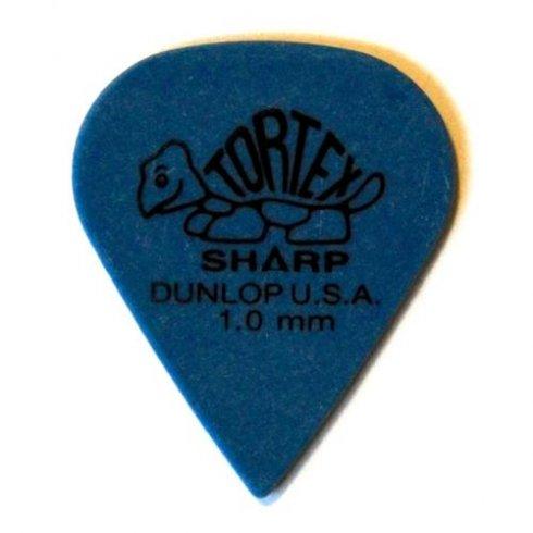 jim dunlop jim dunlop tortex sharp 1mm blue single guitar pick jim dunlop from strings direct uk. Black Bedroom Furniture Sets. Home Design Ideas