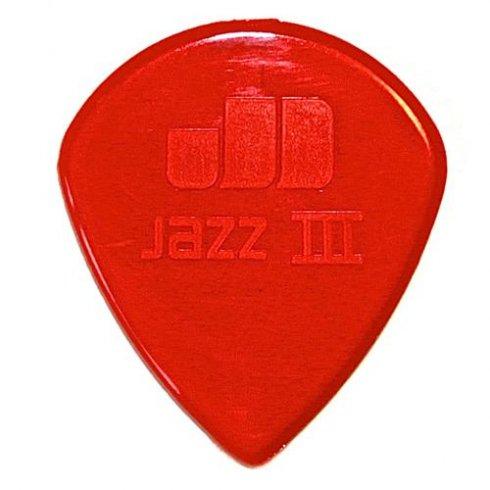 jim dunlop jim dunlop nylon jazz 3 red normal guitar pick 47r3n jim dunlop from strings direct uk. Black Bedroom Furniture Sets. Home Design Ideas