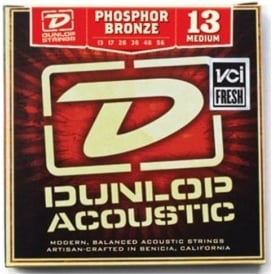 Jim Dunlop Phosphor Bronze Acoustic Guitar Strings 13-56 Medium