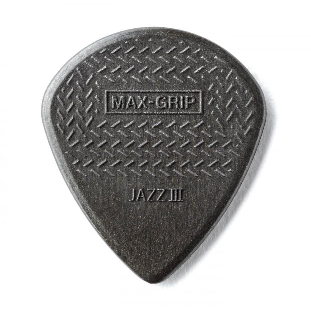 jim dunlop max grip jazz iii carbon fiber guitar picks 6 pack. Black Bedroom Furniture Sets. Home Design Ideas