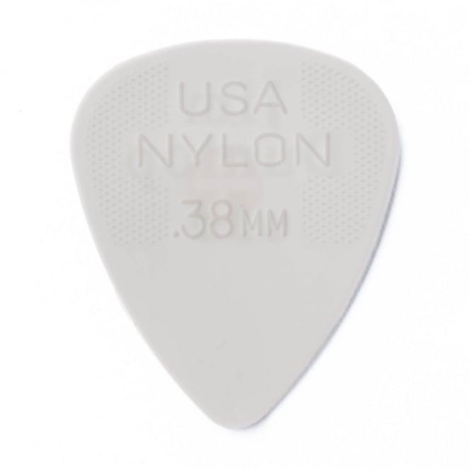 Jim Dunlop Nylon Standard Guitar Pick 0.38mm, 72-Pack