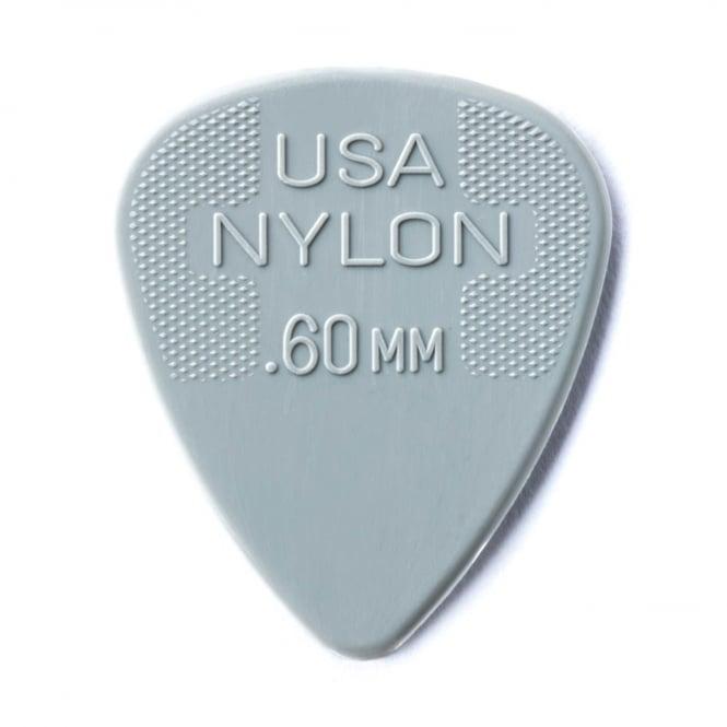 Jim Dunlop Nylon Standard Guitar Pick 0.60mm, 72-Pack