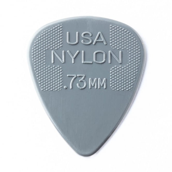 Jim Dunlop Nylon Standard Guitar Pick 0.73mm, 72-Pack