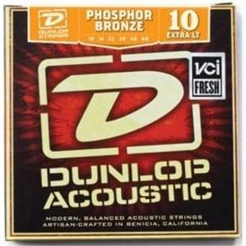 Jim Dunlop Phosphor Bronze Acoustic Guitar Strings 10-48 Extra Light