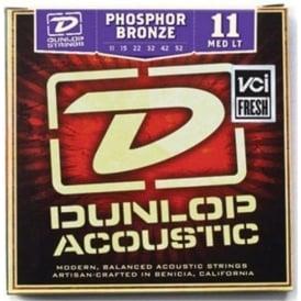 Jim Dunlop Phosphor Bronze Acoustic Guitar Strings 11-52 Medium Light