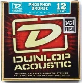 Jim Dunlop Phosphor Bronze Acoustic Guitar Strings 12-54 Light