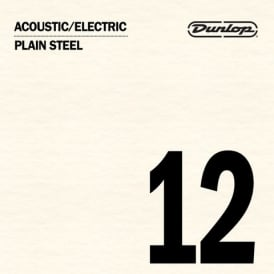 Jim Dunlop Plain Steel Single String .012