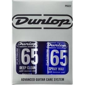 Jim Dunlop Platinum 65 Deep Clean & Spray Wax System for Guitar