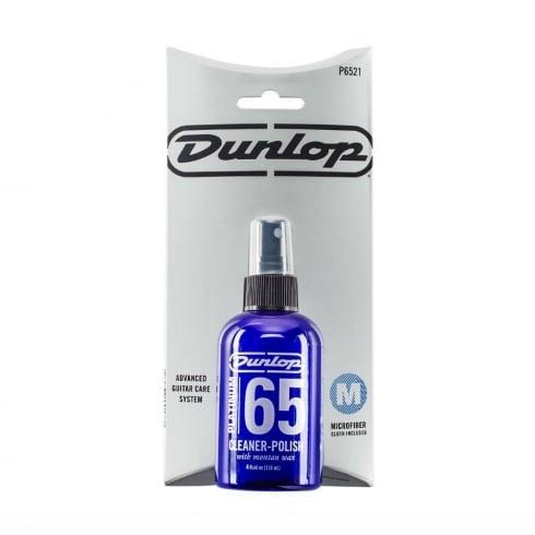 Jim Dunlop Platinum 65 Guitar & Bass Cleaner-Polish with Cloth, 4oz