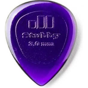 Jim Dunlop Small Stubby 3mm Jazz Plectrum - 6-Pick Player Pack