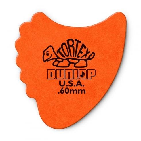 Jim Dunlop Tortex Fins .60mm - 6-Pack (Orange)