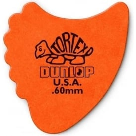 Jim Dunlop Tortex Fins .60mm - 6-Pack (Orange)