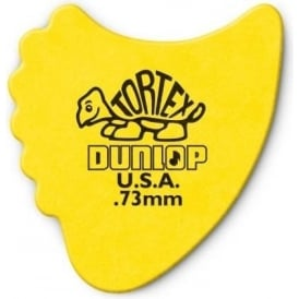 Jim Dunlop Tortex Fins .73mm - 6-Pack (Yellow)