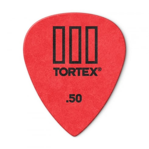 Jim Dunlop Tortex III Guitar Picks .50mm Red Player Pack of 12 462P50