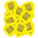 Jim Dunlop Tortex III Guitar Picks .73mm Yellow Player Pack of 12 462P73