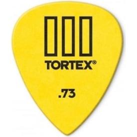 Jim Dunlop Tortex III Guitar Picks .73mm Yellow Player Pack of 12 462P73