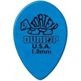 Jim Dunlop Tortex Small Teardrop 1.00mm Blue - 6-Pack