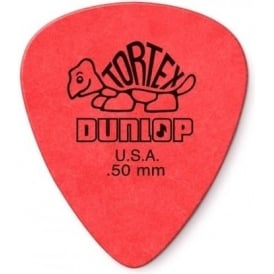 Jim Dunlop Tortex Standard Guitar Pick 0.50mm Red, 72-Pack