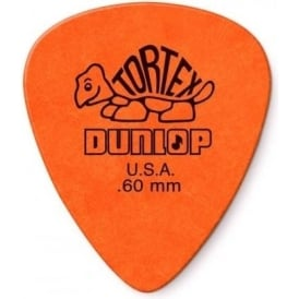 Jim Dunlop Tortex Standard Guitar Pick 0.60mm Orange, 72-Pack