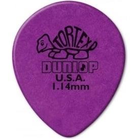 Jim Dunlop Tortex Teardrop 1.14mm (6-Pack) - Purple