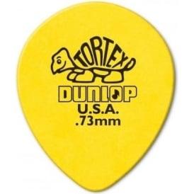 Jim Dunlop Tortex Teardrop .73mm (6-Pack) - Yellow