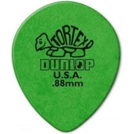 Jim Dunlop Tortex Teardrop .88mm (6-Pack) - Green