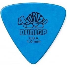 Jim Dunlop Tortex Triangle Guitar Plectrums 1.0mm Blue (Pack of 6 Plectrums)