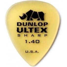 Jim Dunlop Ultex Sharp 1.40mm Guitar Picks 6-Pack 433P140 Plectrums