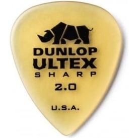 Jim Dunlop Ultex Sharp 2mm Guitar Picks 6-Pack 433P200 - Made in the USA