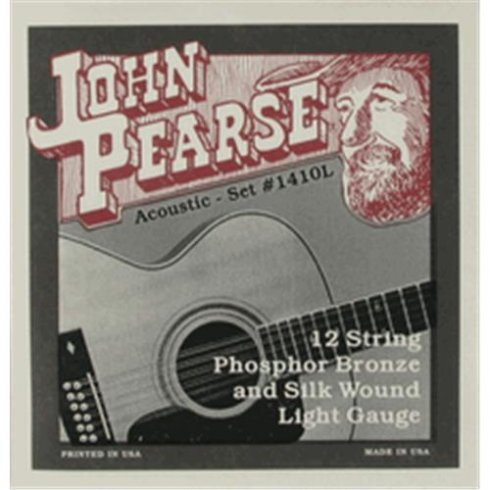 12-String Phosphor Bronze Silk Wound 10-49 Light Acoustic Strings 1410L