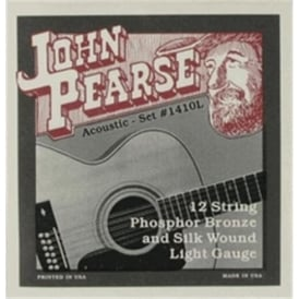 John Pearse 12-String Phosphor Bronze Silk Wound 10-49 Light Acoustic Strings 1410L