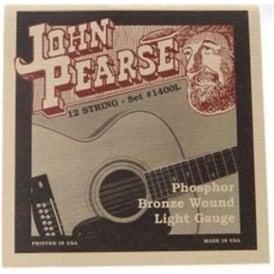 John Pearse 1400L Phosphor Bronze Acoustic Strings 10-47 12-String