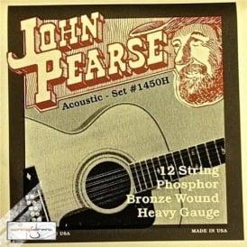 John Pearse 1450H Phosphor Bronze Acoustic Strings 13-56 12-String