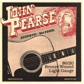 John Pearse 200L 80/20 Bronze 12-53 Light Acoustic Guitar Strings