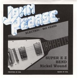 John Pearse 2400 Pure Nickel Wound Super EZ Bends Electric Strings 9-42