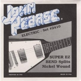 John Pearse 2410 Pure Nickel Wound Super EZ Bends Electric Strings 9-46 Spilts
